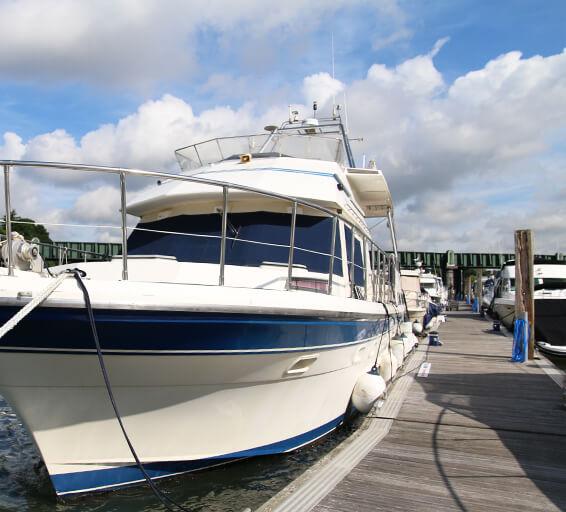 Boat berths on the River Hamble