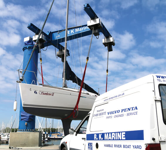 Boat lifting and boat yard facilities