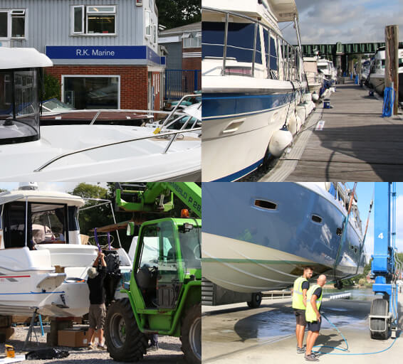 A range of boat yard services at RK Marine