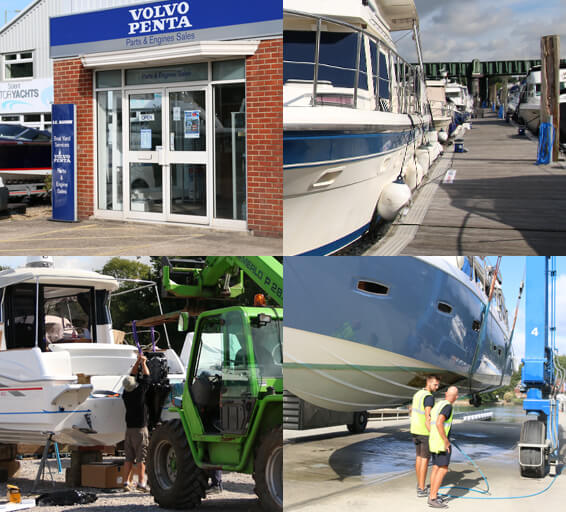 Boat yard services at RK Marine