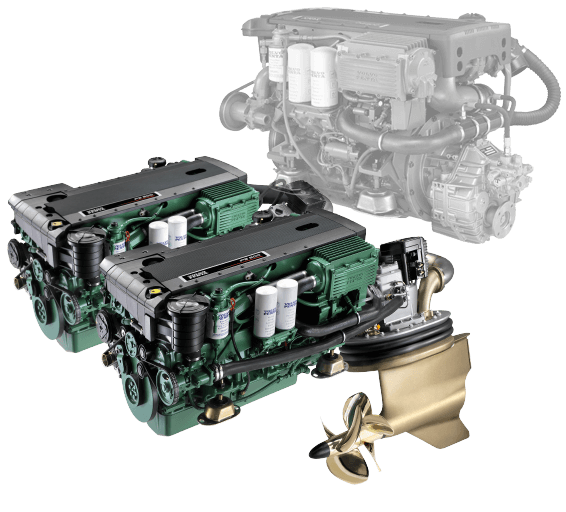 Motor yacht engines