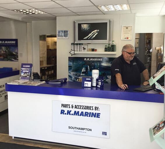 RK Marine Parts Sales Reception