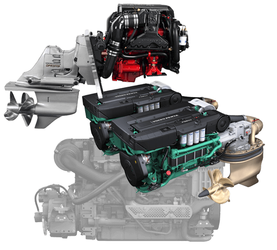 Powerboat engines